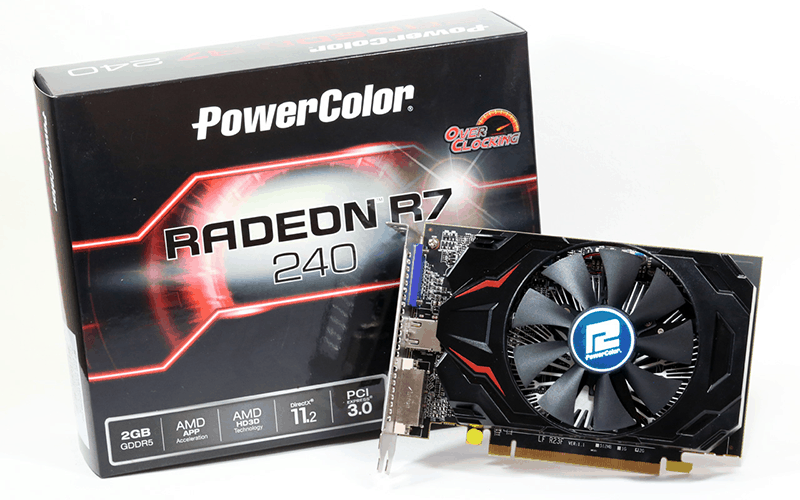 VGA: PowerColor R7 240 2 GB