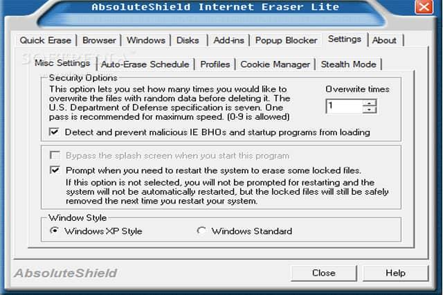 AbsoluteShield Internet Eraser