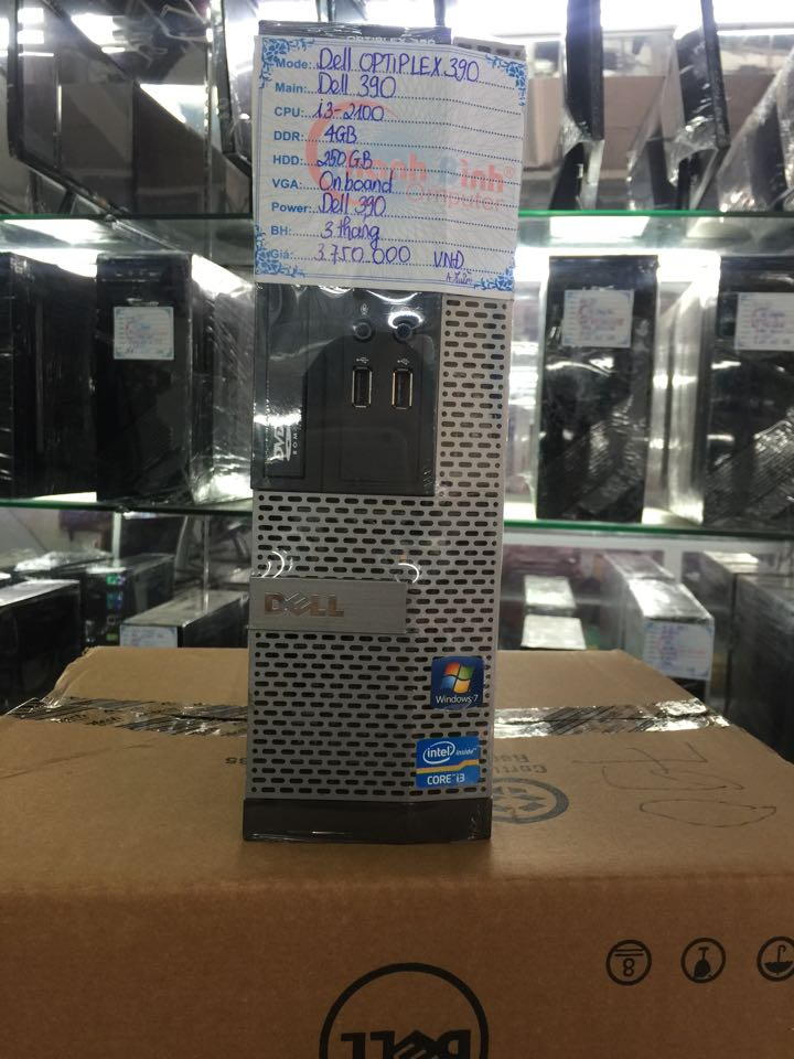 DELL Optiplex 990, Chíp i3 2100, Ram 4Gb, HDD 250GB, ổ Đĩa DVD