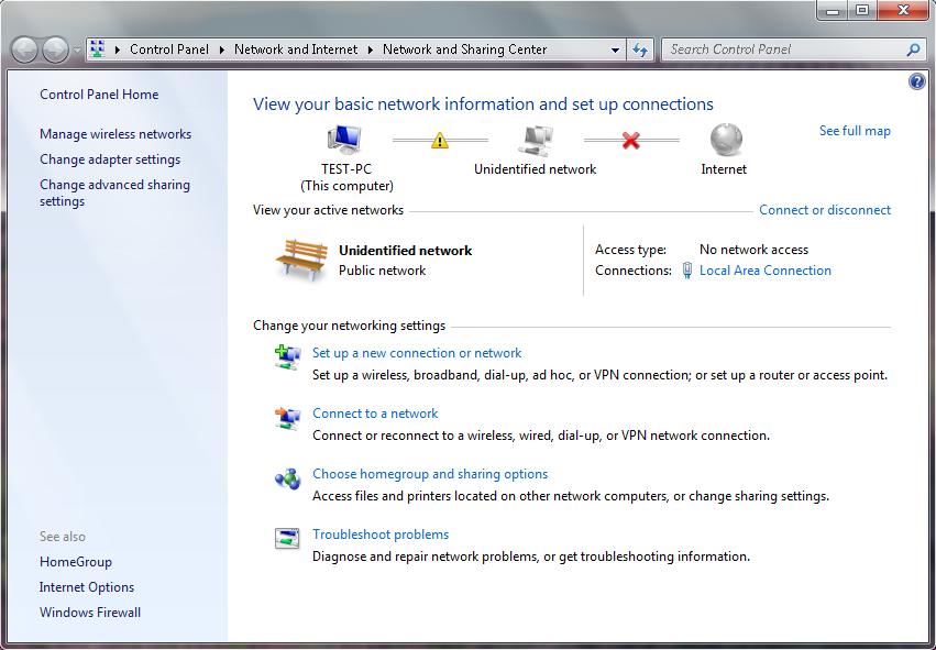 Sửa lỗi máy tính bị lỗi UNIDENTIFIED NETWORK vào được mạng ngay