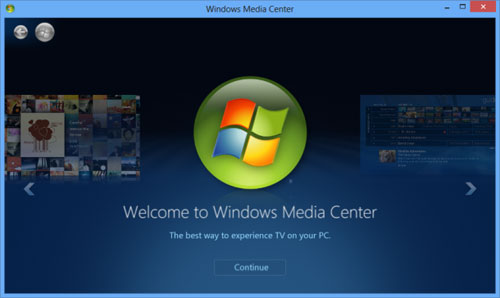 Media Center cho Windows 8