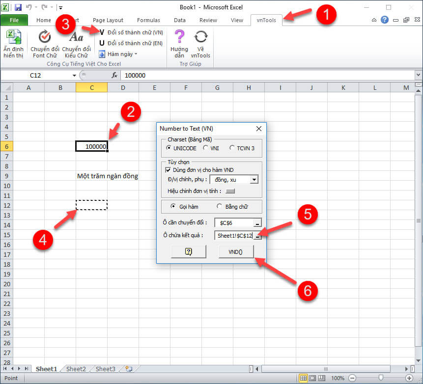 phan mem doi so thanh chu trong Excel, Word – VnTools: