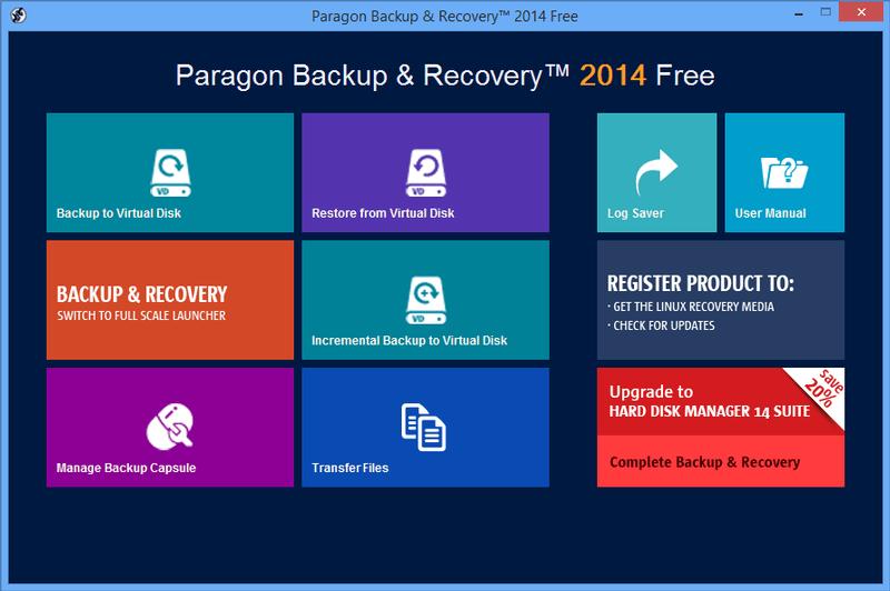 Paragon Backup & Recovery phan mem may tinh cho win 7